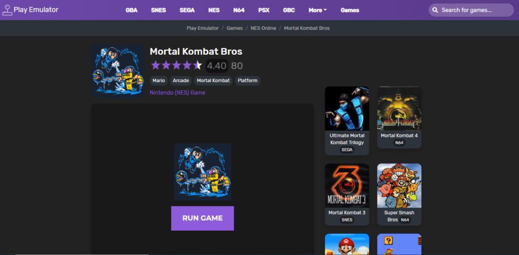 Play Emulator, la plataforma para disfrutar de miles de juegos retro en el navegador de tu móvil