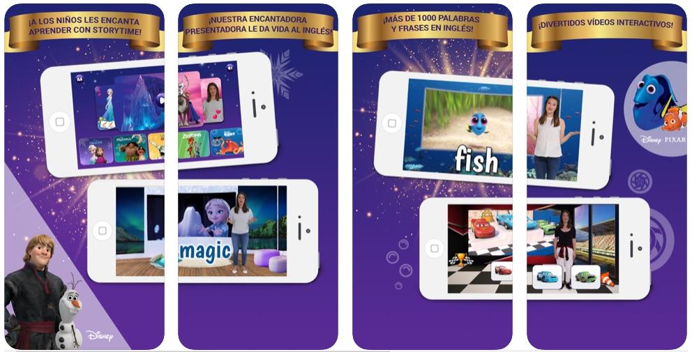 Storytime permite a tus hijos aprender inglés con películas Disney
