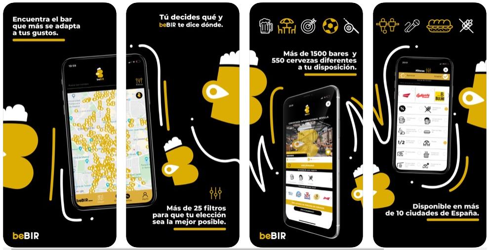 """beBIR: """"Con nuestra app puedes saber qué marca de cerveza tienen en un bar y si ponen el fútbol en el mismo sitio"""""""