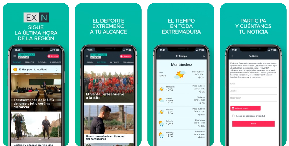 Canal Extremadura estrena aplicaciones móviles