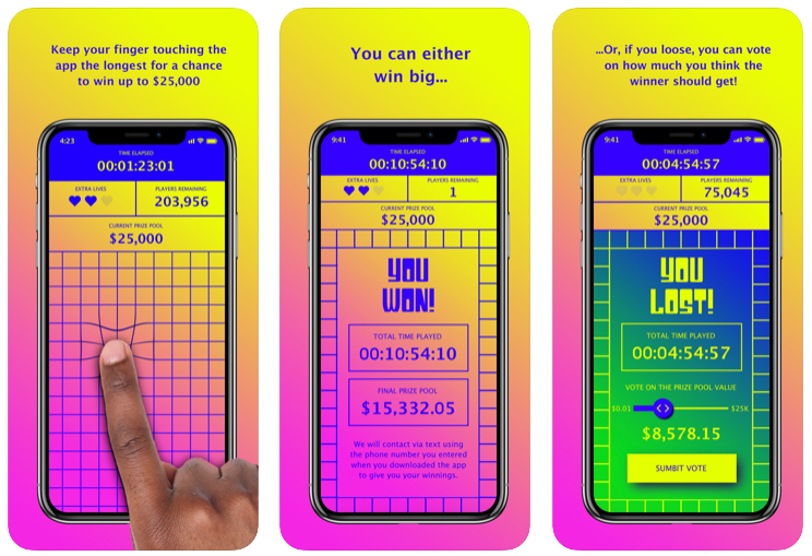 Finger On The App, el juego móvil  donde no tienes que levantar un dedo que triunfa en EE.UU