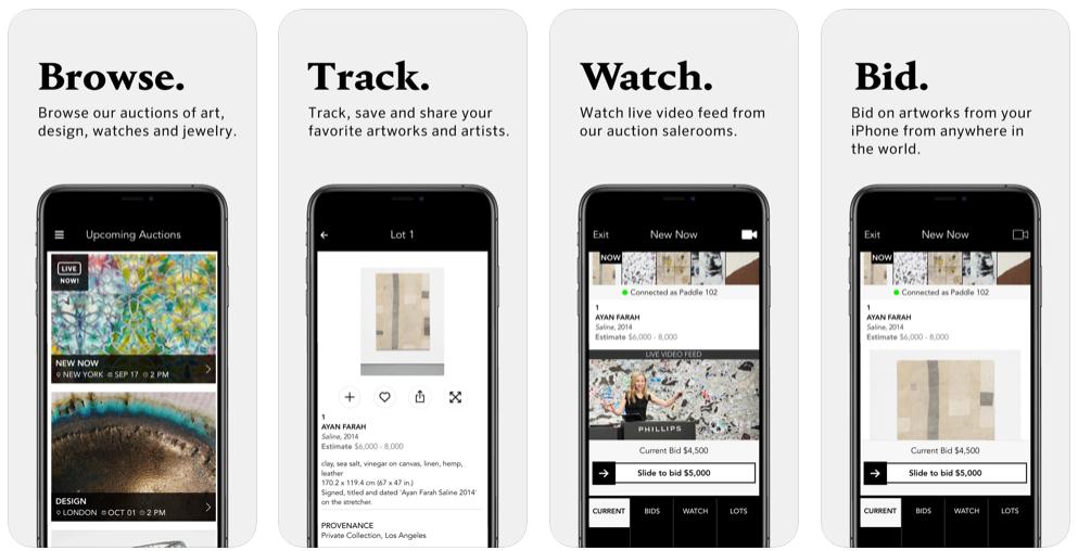 Esta app te permite participar en subastas de obras de arte desde el móvil