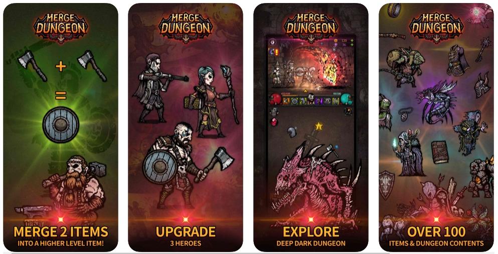 El juego de mazmorras Merge Dungeon, ya disponible para iOS y Android