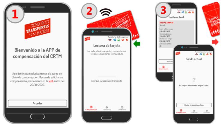 App Compensación CRTM te permite canjear el dinero del abono transporte que no hayas usado por la COVID-19