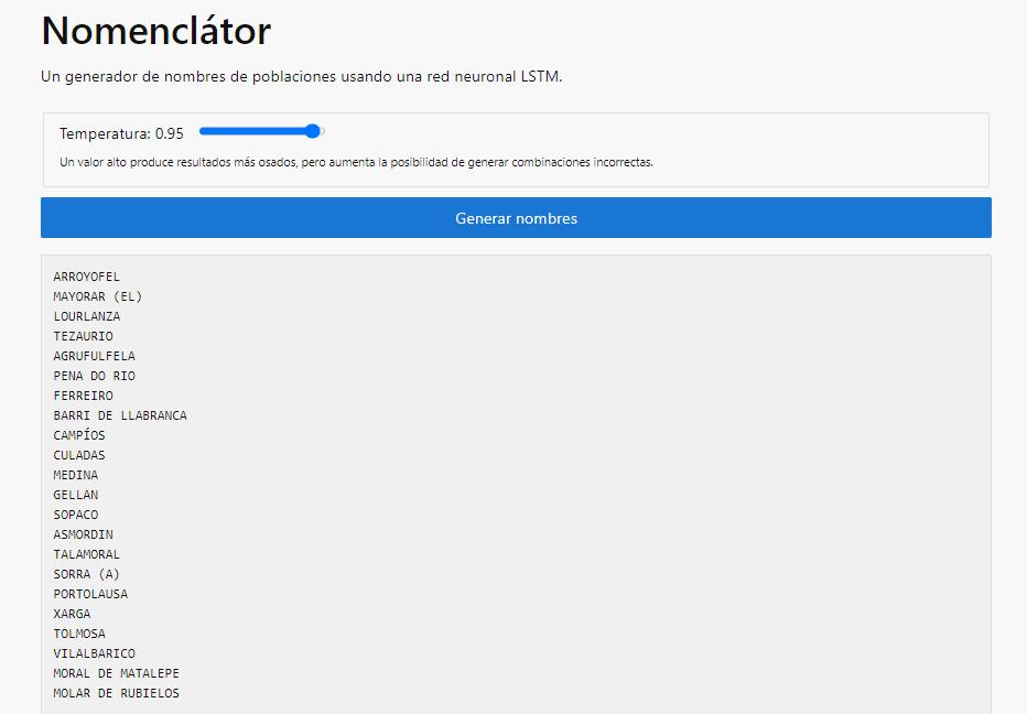 Esta app genera nombres inventados de pueblos de España