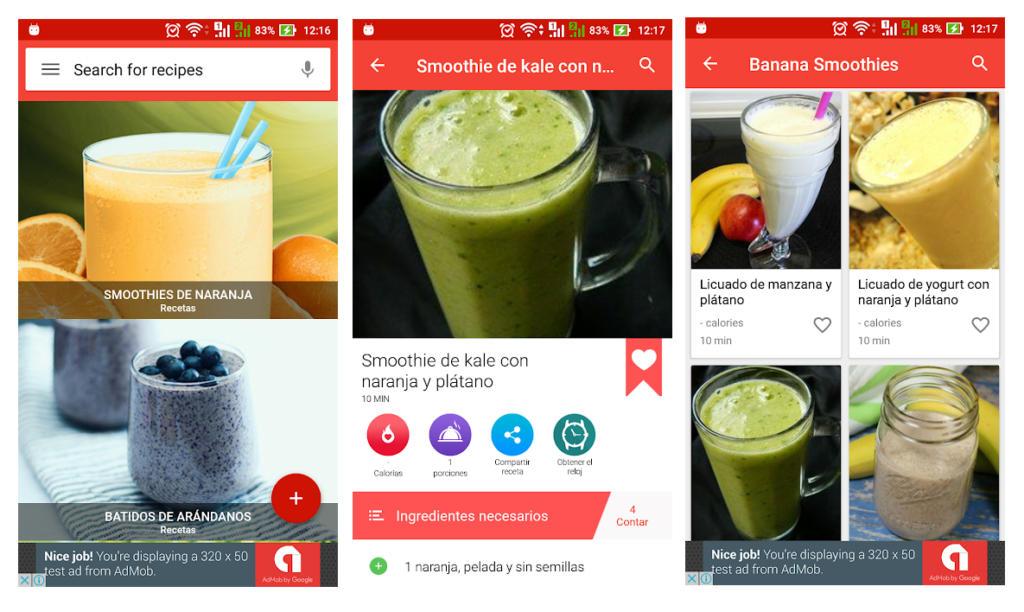 Descubre las mejores recetas de smoothies con esta aplicación