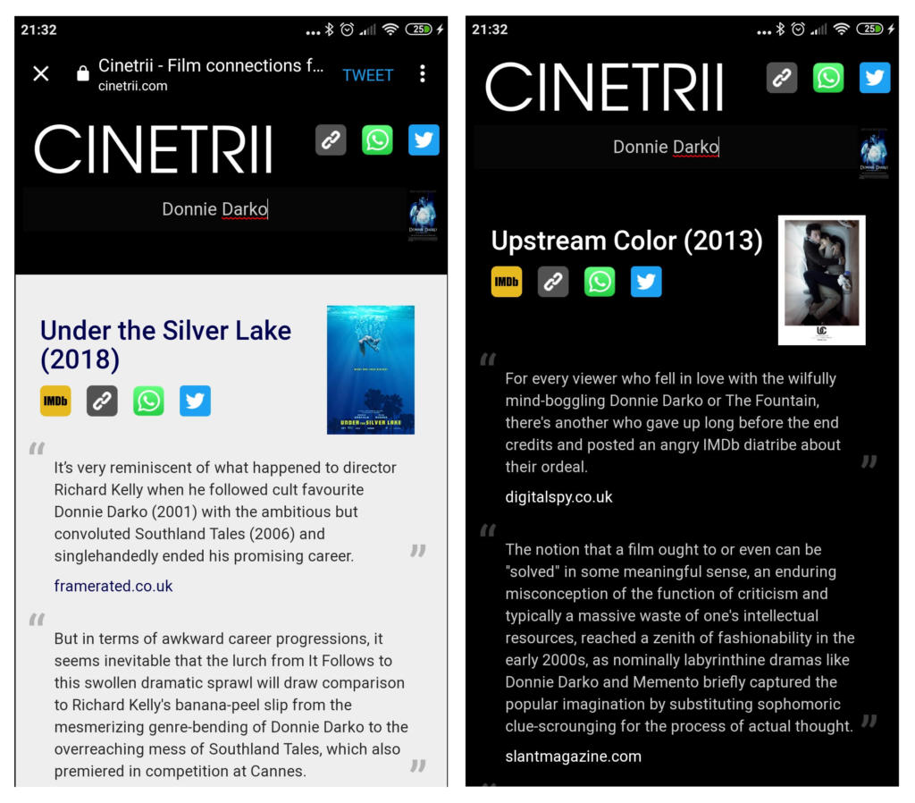 Cinetrii, la app a la que le dices una película que te encantó y te busca otras similares