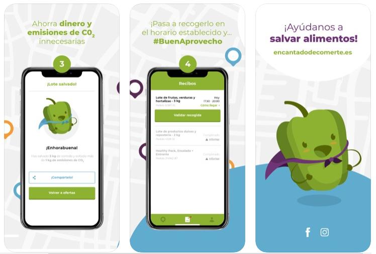 Encantado de Comerte, la app contra el desperdicio alimentario que combate la malnutrición de familias vulnerables