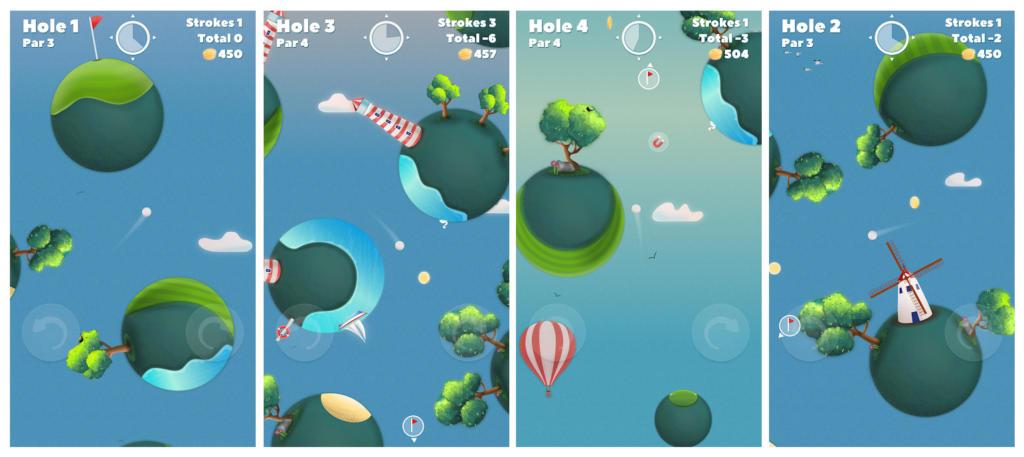 Golf Skies, un juego que mezcla golf y campos gravitatorios