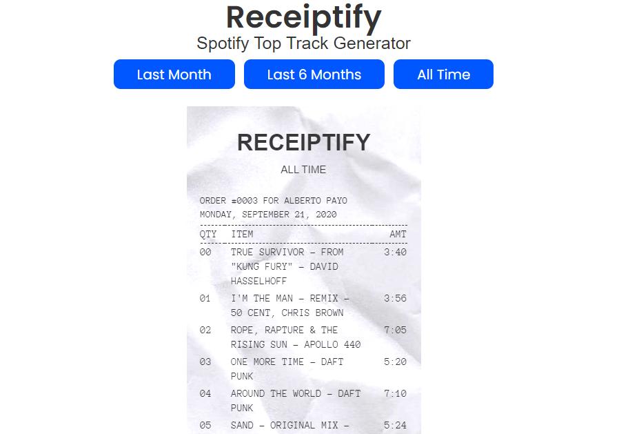 ¿Qué es Receiptify, la app asociada a Spotify que todo el mundo busca?