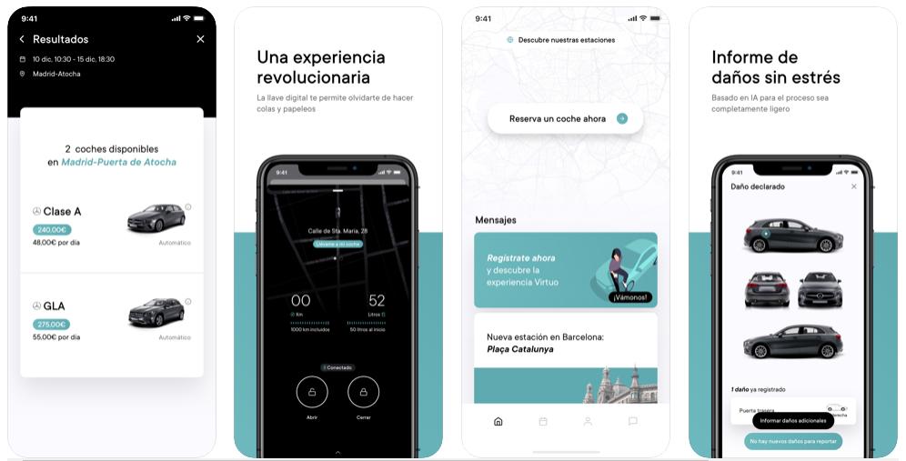Virtuo, la app que te permite reservar coches por días para recorrer la ciudad