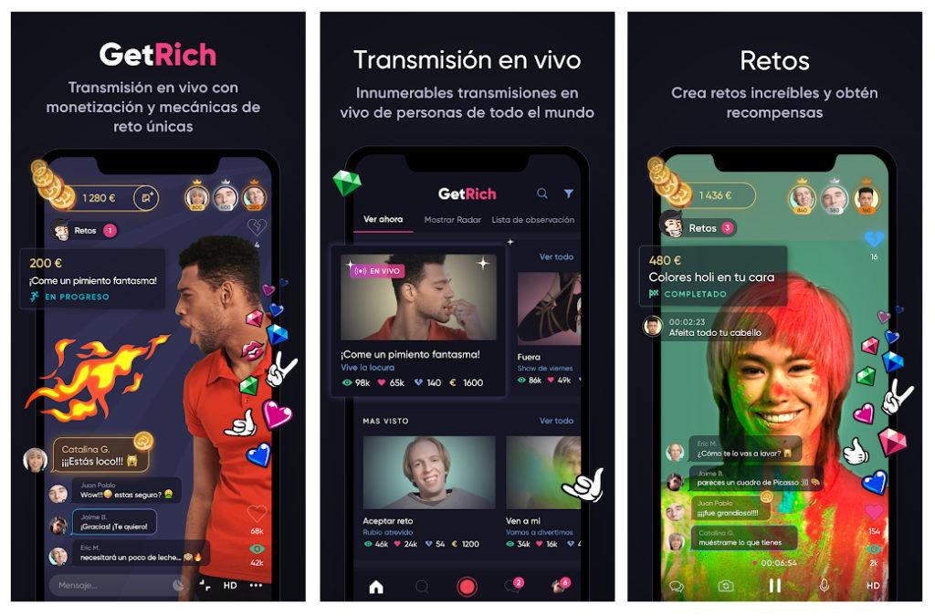 GetRich, la app que permite ganar dinero por hacer todo tipo de retos