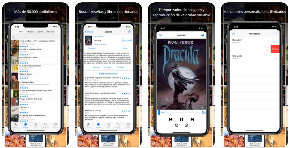 LibriVox, una app con audiolibros gratuitos a cascoporro