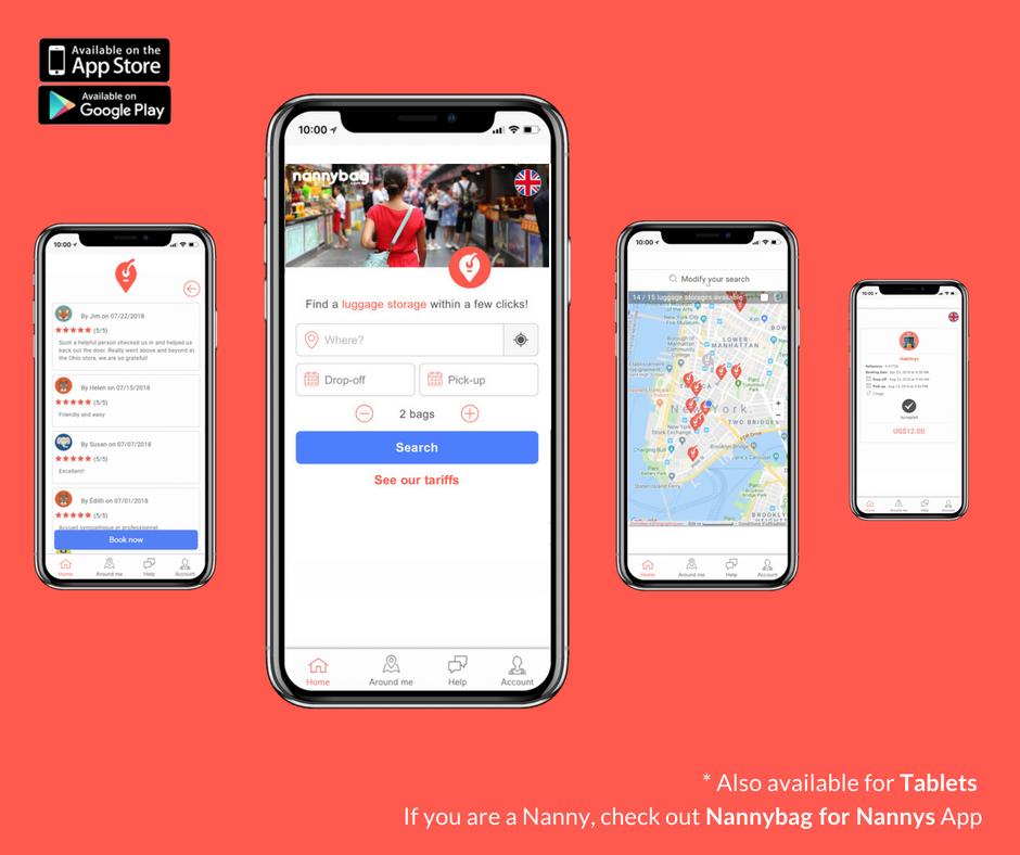 Hemos probado Nannybag, la app donde cada negocio o tienda es una consigna para tu equipaje
