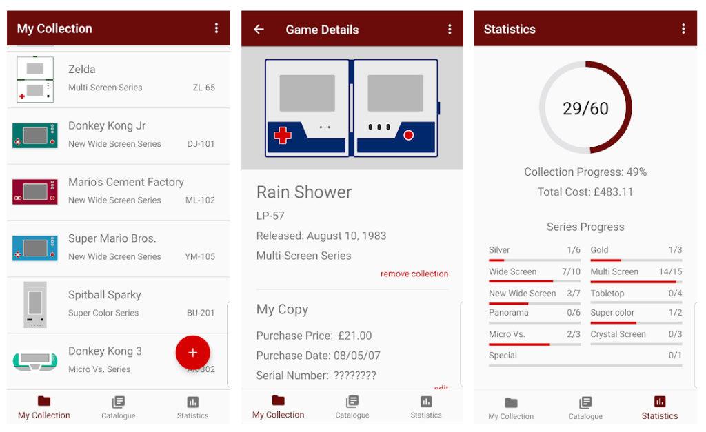 Esta aplicación te permite organizar tu colección de maquinitas Game & Watch