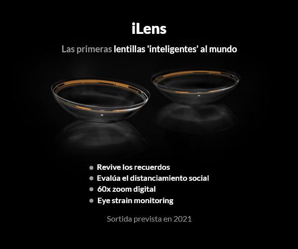 iLens, las lentillas inteligentes que cambiarán tu visión del mundo en 2021