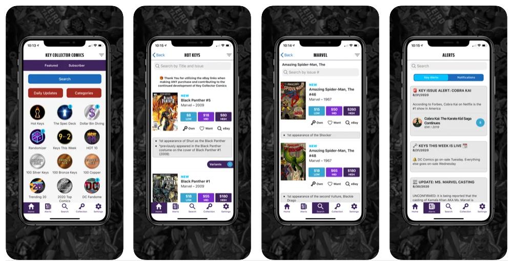 Cataloga y conoce el valor de tu colección de cómics con Key Collector Comics Database & Price Guide App