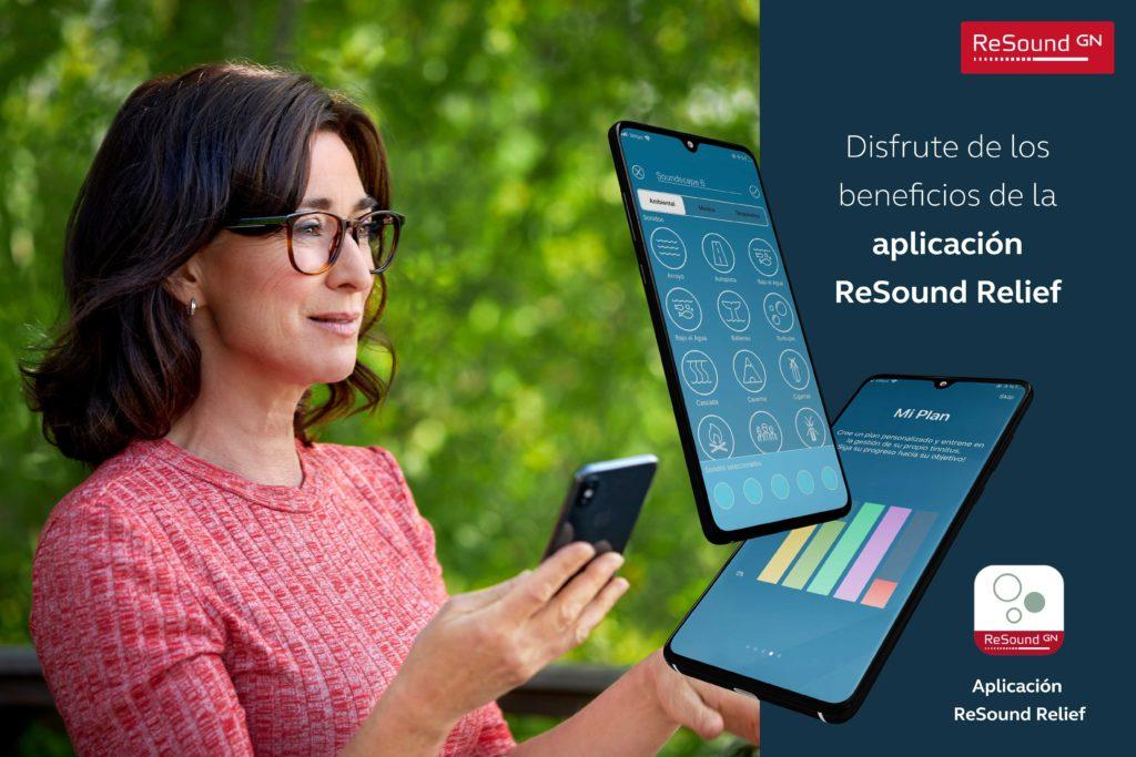 ReSound Relief, una app que ayuda a aliviar y controlar el tinnitus