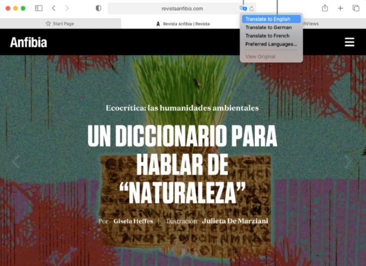 Cómo traducir de forma automática páginas web desde un iPhone