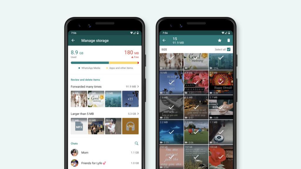 WhatsApp mejora su herramienta de gestión de almacenamiento para no canibalizar la memoria de tu teléfono