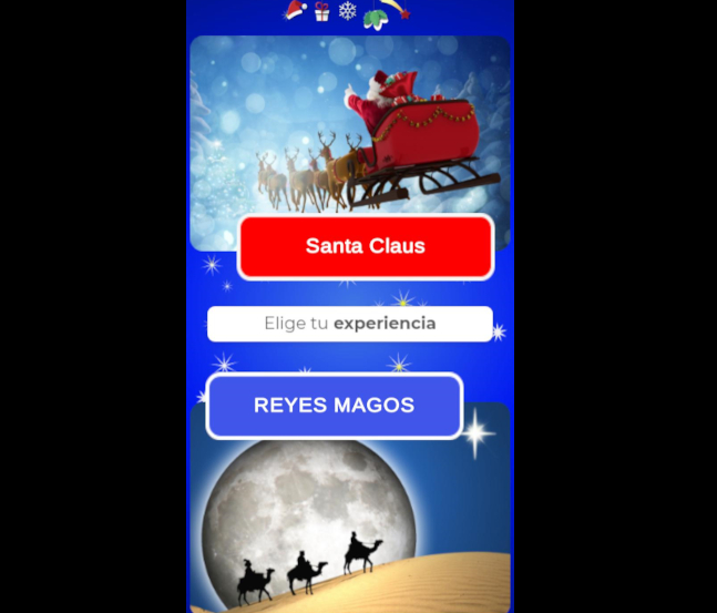 NavidAR, la app que trae a Papá Noel y los Reyes Magos en realidad aumentada