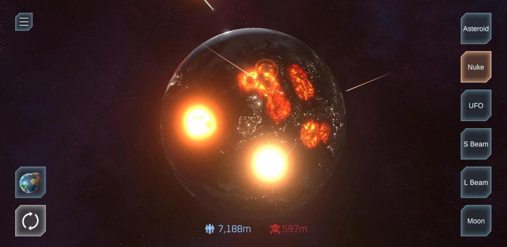 Destruye planetas o zonas de la Tierra sin pestañear con Solar Smash