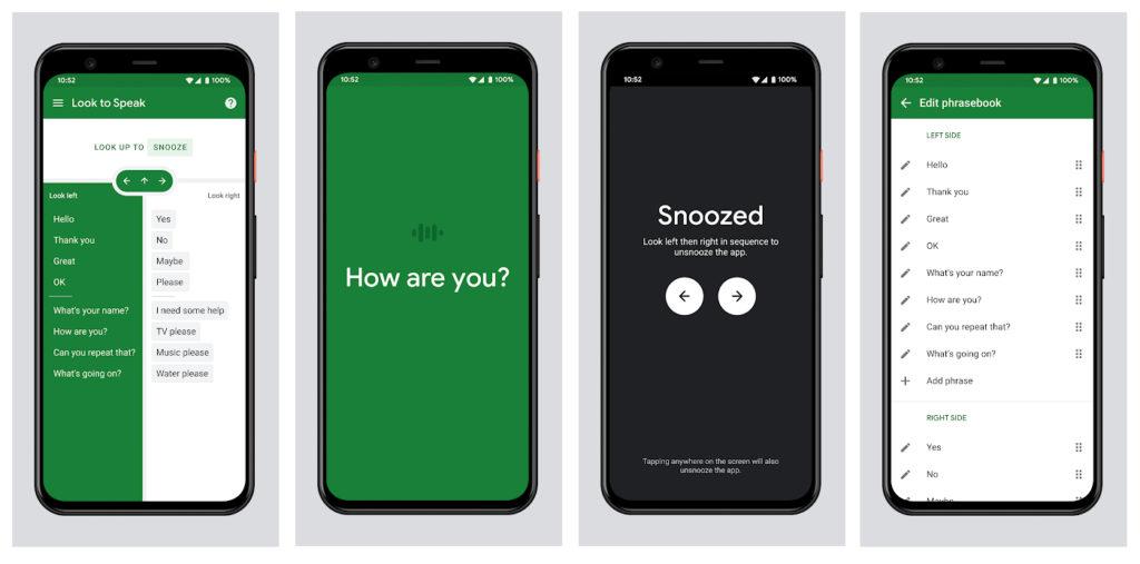 Google lanza Look to Speak, una app para poder comunicarse con la mirada
