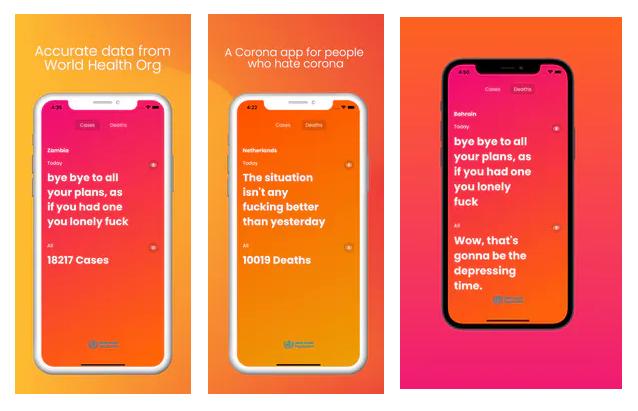 The F*cking Corona, la app que te dice cómo va a ser tu maldito día por la COVID