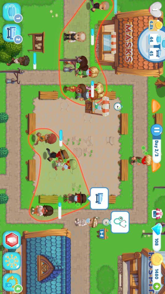 Viral Days, el juego donde tienes que mantener a los ciudadanos a salvo del coronavirus
