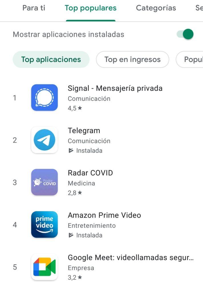Signal también experimenta un gran crecimiento de usuarios en los últimos días