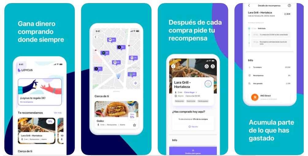 Loycus, la app que te devuelve dinero si pagas con tarjeta