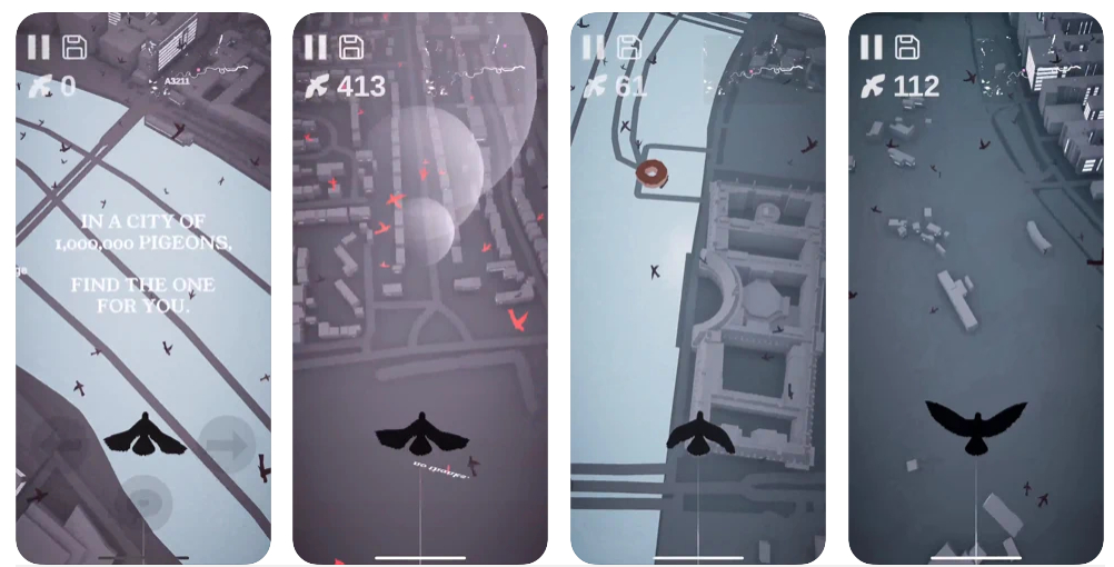Pigeon: A Love Story, un juego donde debes encontrar a tu palomo en una ciudad de 1 millón de palomas