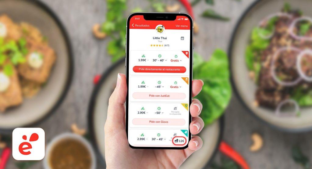 Esta app te permite comparar los costes de envío de los distintos servicios de comida a domicilio