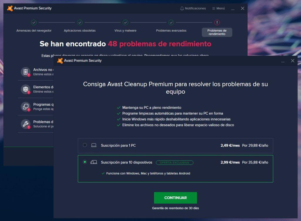 Avast Premium Security: Esto ya no es lo que era (por fortuna)
