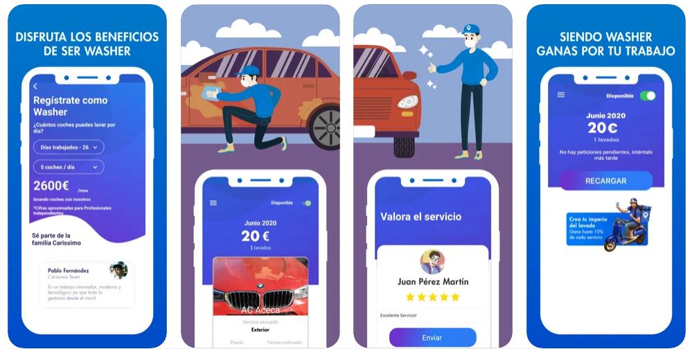 Carissimo, una app para que vayan a lavar tu coche a cualquier lugar