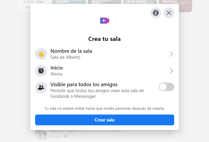 Cómo organizar salas en Facebook