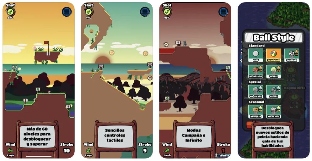 Dinkigolf, un nuevo juego para móviles que aúna golf y plataformas