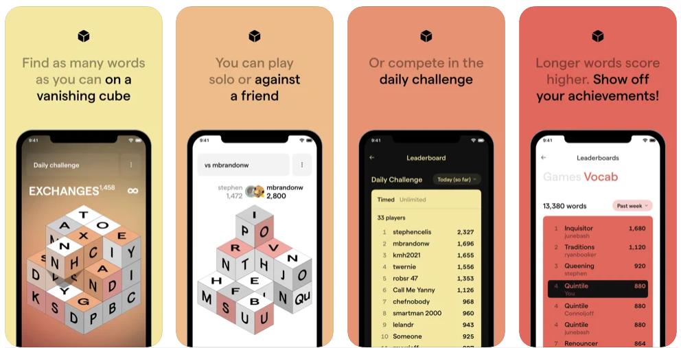 Isowords, el juego que te permite encontrar palabras al cubo