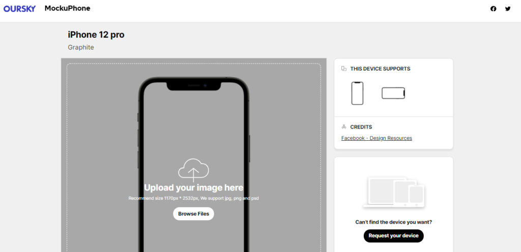 MockUPhone te permite hacer mockups de tus apps o imágenes en el smartphone que quieras