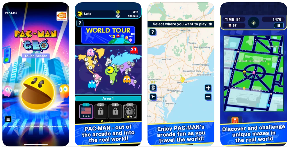 Pac-Man Geo se actualiza estrenando el modo World Tour