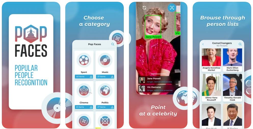Con PopFaces puedes escanear la cara de un famoso para saber quién es y qué hace