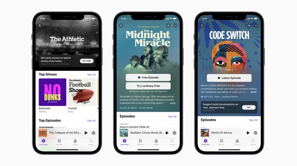Apple Podcasts estrenará suscripciones individuales para los creadores de contenido