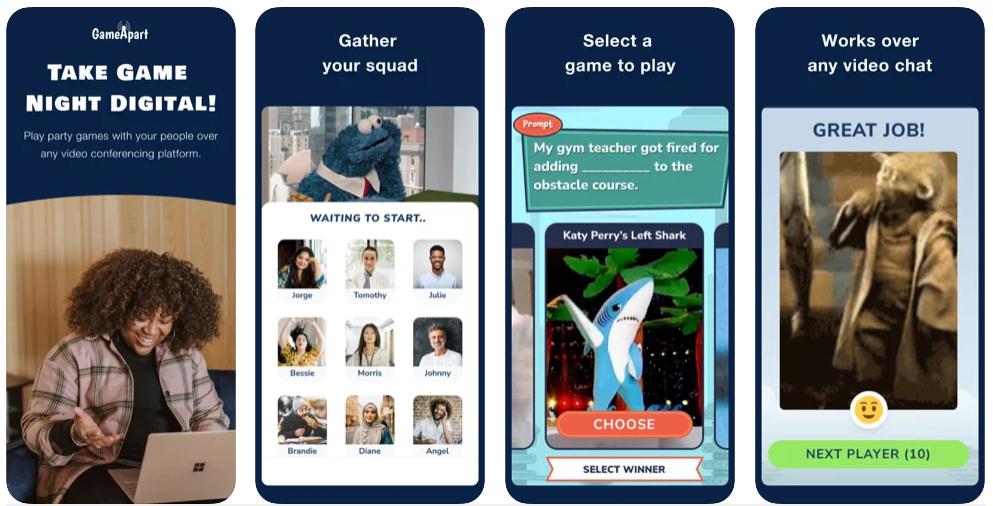 GameApart te permite jugar a juegos de mesa por videollamada