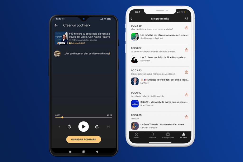 iVoox ya permite seleccionar y compartir fragmentos de podcasts con la función Podmarks