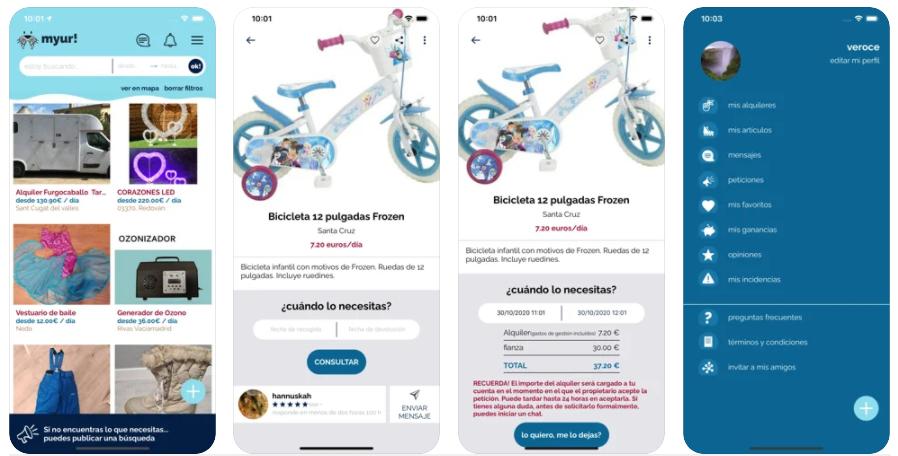 Myur!, la app con la que podrás alquilar cualquier cosa que necesites