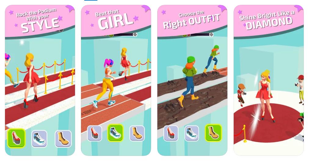 Shoe Race, el juego donde debes cambiar de calzado para ganar la carrera