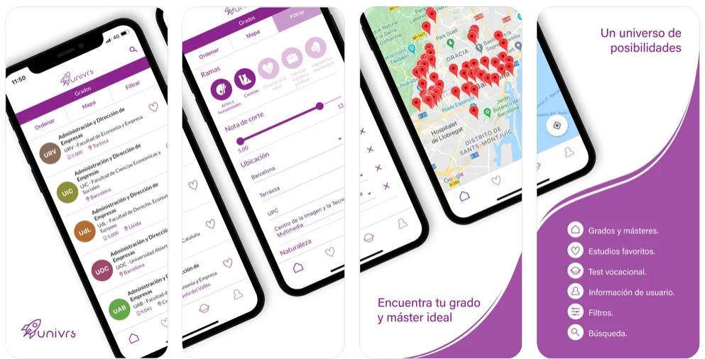 Univrs, la app que ayuda a los estudiantes a escoger su carrera ideal
