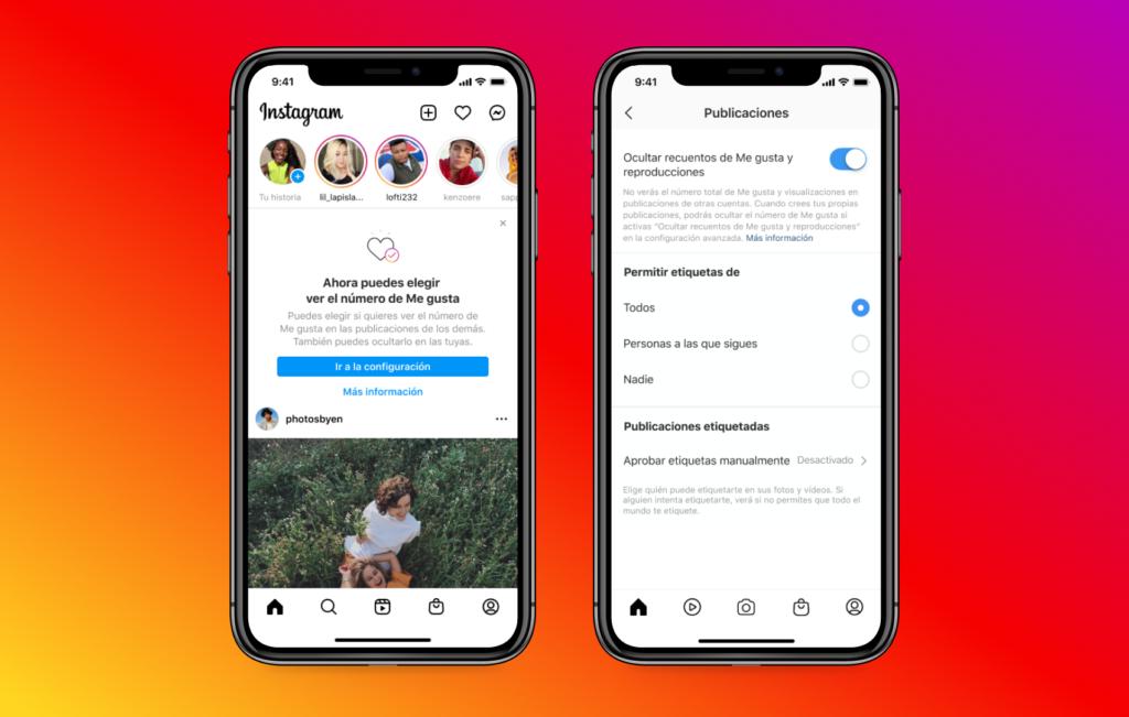 Instagram ahora permite escoger si mostrar o no el número de Me Gusta en publicaciones propias y ajenas