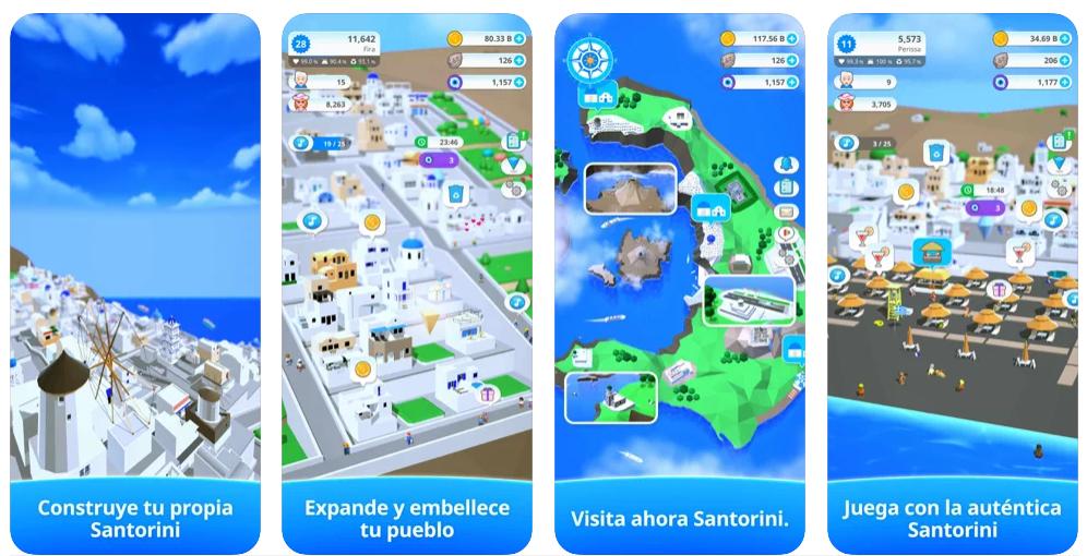 Viaja hasta Santorini con este delicioso juego móvil