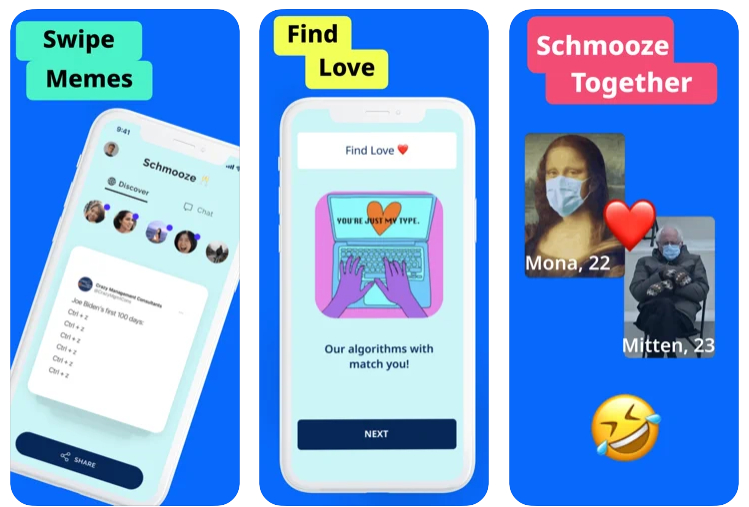Schmooze, una app para ligar a base de memes